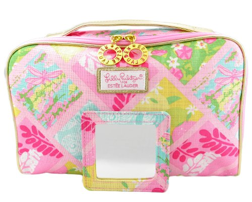 5ca8c800aa8b 1 New Lilly Pulitzer Cosmetic Bag in Lilly Patch + Matching Mirror ...